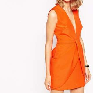 Finders Keepers Small Orange Dress
