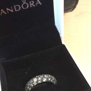 (reduced!!) Limited Offer! Pandora Silver Crystal Ring (brand New)