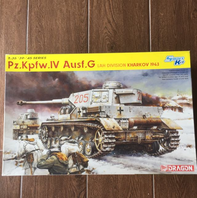 1/35 Pz Kpfw Panzer IV Ausf G Smart Kit Dragon, Toys & Games