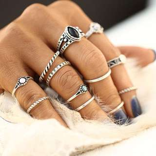 12PCS SET BOHO STYLE RINGS