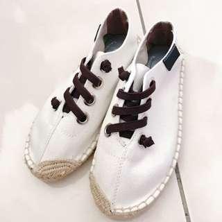 草編懶人鞋