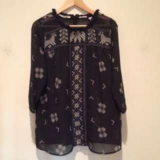 Maision Scotch 'Mademoiselle' Top - Size 3 (12)