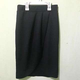flare pencil skirt black