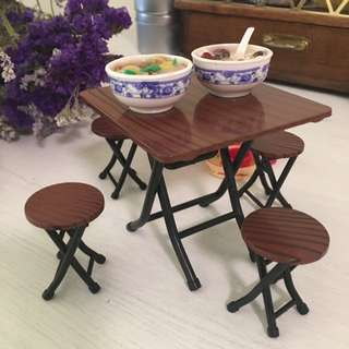 Table And Chair Set Miniature Traditional Chinese Style