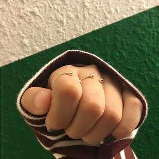 開口小圓珠關節戒指