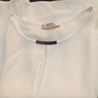 White Blouse Mango Suit Size M