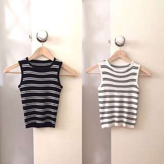 2x Striped Knit Tops