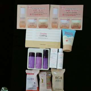 Various Samples From Etude House, Somang,  Innisfree And Avene