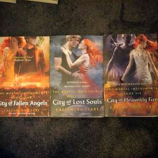 The Mortal Instrument Series (City Of Galen Angels,  Lost Souls And Heavenly Fire) (Cassandra Clare)