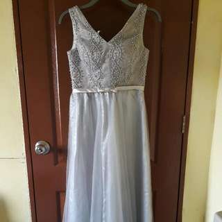 Silver-Gray Long Gown