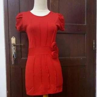 Dress Mini Merah