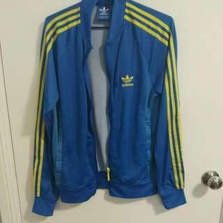 Adidas Jacket Blue And Yellow