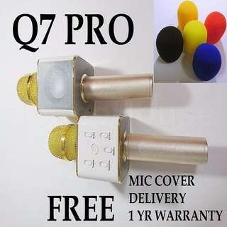 Gold Q7 Pro Wireless Bluetooth Karaoke Microphone
