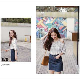 KOREAN ULZZANG INSPIRED WHITE OFF SHOULDER TOP