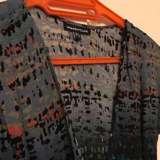Warehouse Draped Dress Size 6
