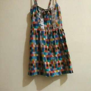 Dress Mini Kotak Kotak