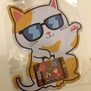 台灣貓貓鐡片明信片