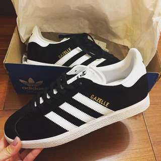 🚚 全新Adidas Originals Gazelle 黑白休閒鞋