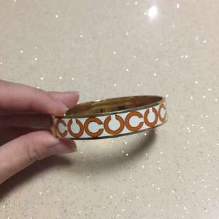 Authentic coach Monogram Bangle