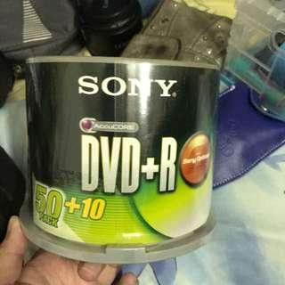 BNIB 60 SONY DVD+R 16x