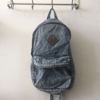 Unisex Topman Backpack Denim Backpack