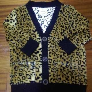 🚚 豹紋針織七分袖外套#轉轉來交換
