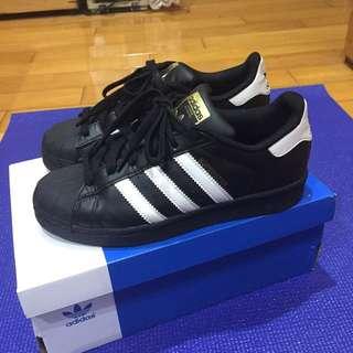 Adidas Superster 金標 黑 22.5cm 極新!!!快帶走它!!!