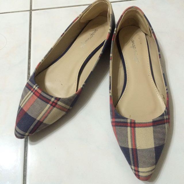 日本購入格紋平底鞋