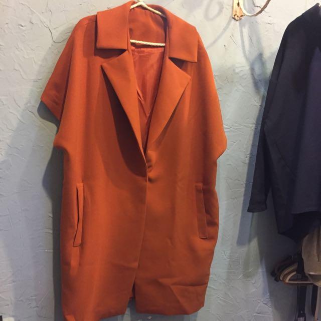 韓國袖口秀寬鬆大衣