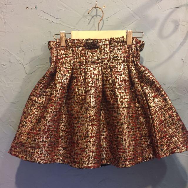 韓國金蔥高腰蓬裙
