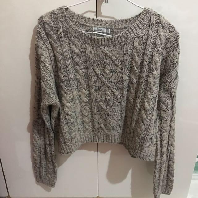 微短版針織毛衣