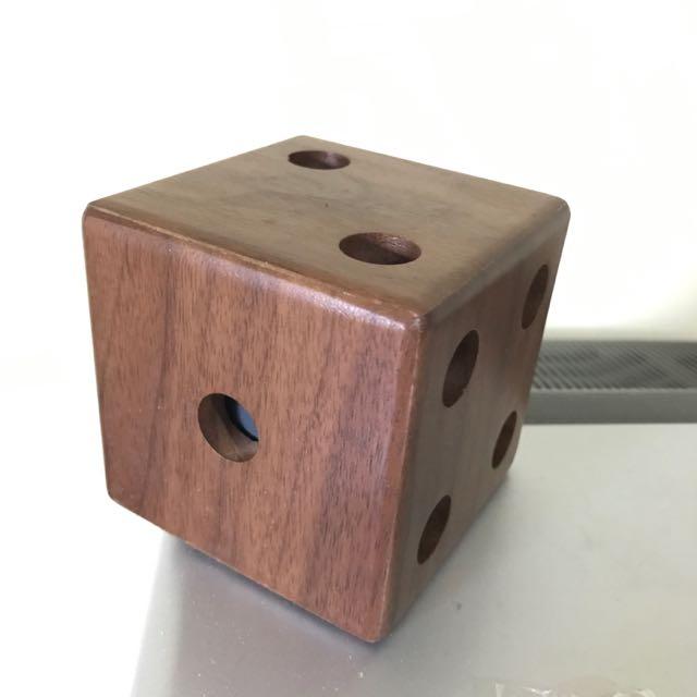 骰子設計 質感筆筒