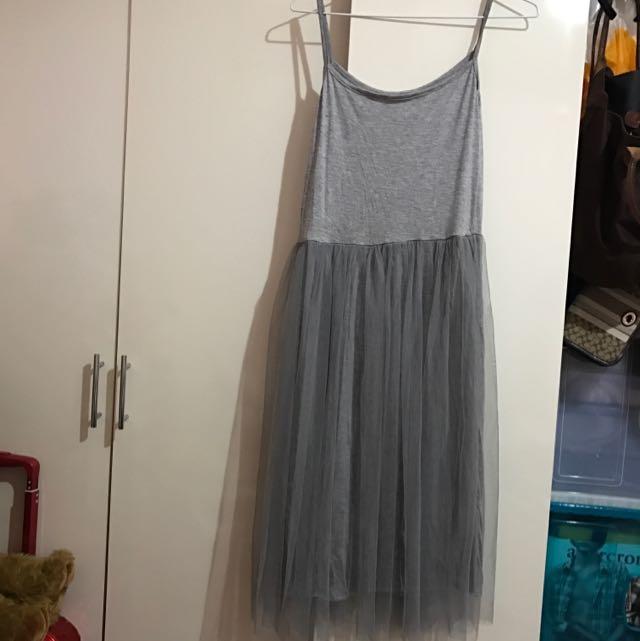 全新 細肩帶紗裙洋裝