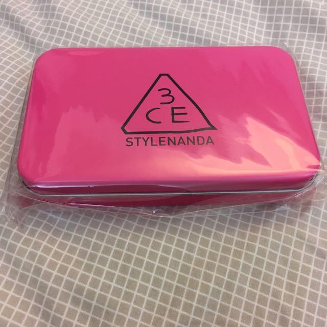 購於韓國 絕對正品 3CE 刷具組 桃紅