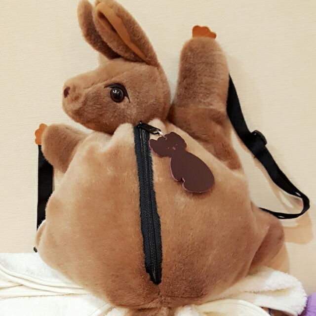 <代售>澳洲帶回, 袋鼠小後背包 😍