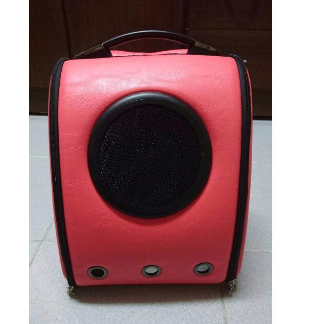 美國 U-pet (正版原廠)太空艙寵物包(嫣紅色)