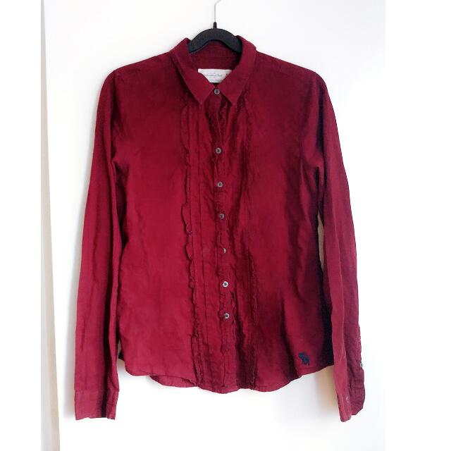 A&F Wine Red Shirt Size M