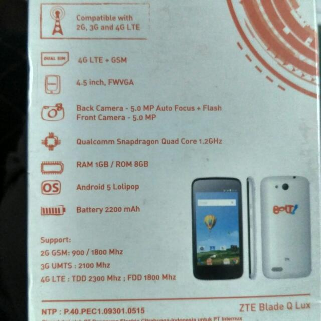Android ZTE Blade Q LUX (POWERPHONE E1)