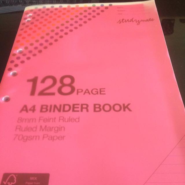 Assorted A4 Binder Books