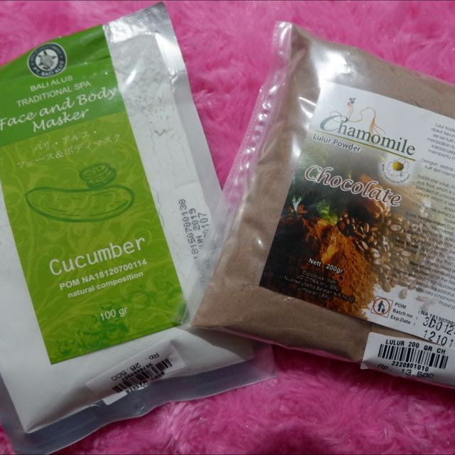 Bali Alus Traditional Spa For Face And Body Masker Dan Chamomile Lulur Powder
