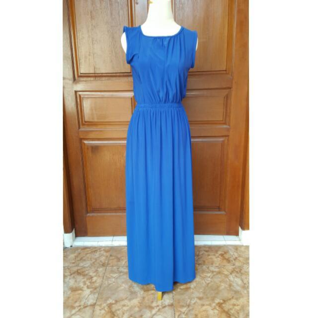 basic dress biru electric