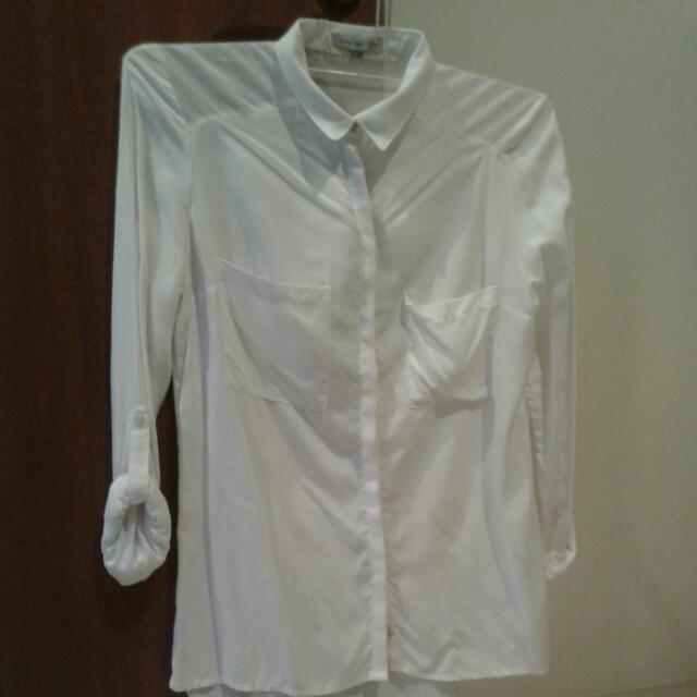 BERSHKA White Blouse