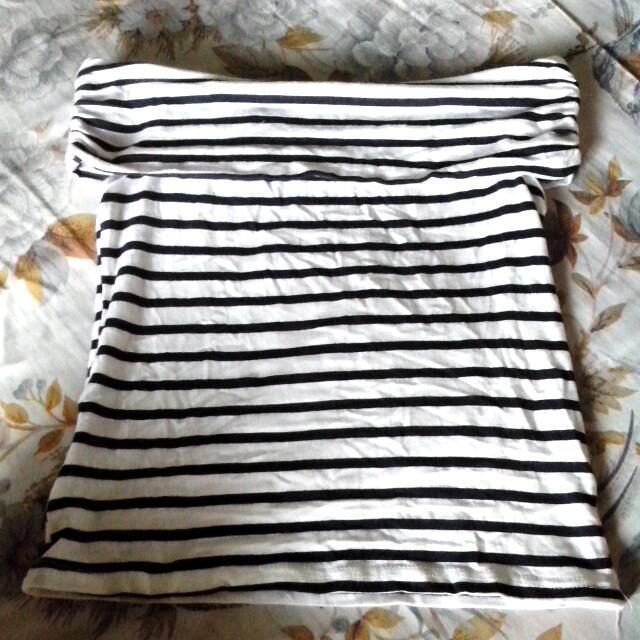 Black And White Off Shoulder