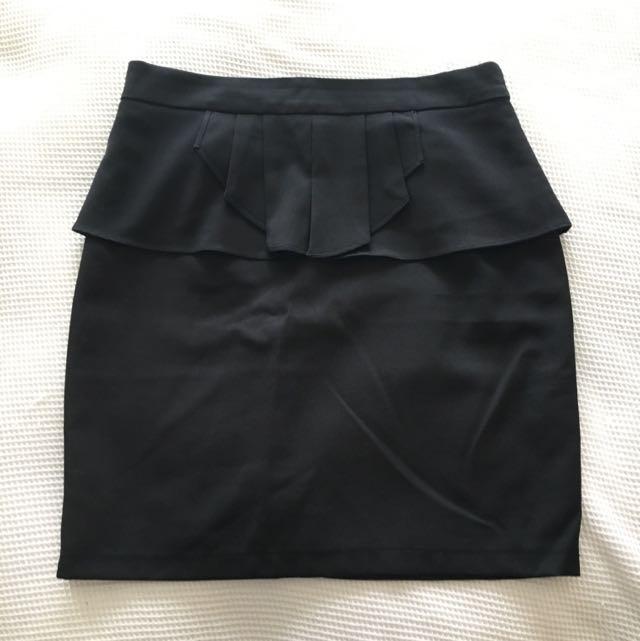 Black Peplum Skirt