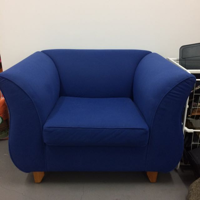 Free! Blue Armchair! Great Condition!