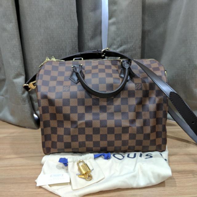 37bfd39eeb16 Brand New Louis Vuitton (LV) Speedy Bandouliere 30 In Damier Ebene ...