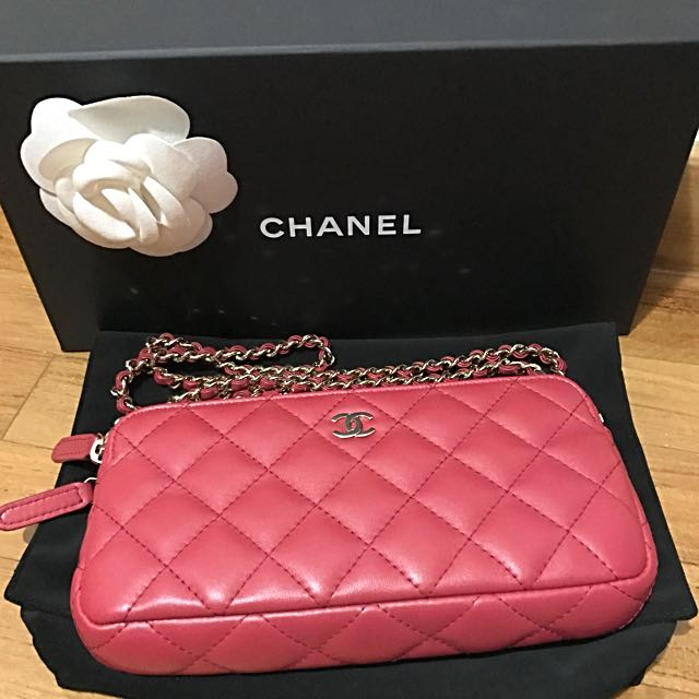 f6237bb589587a Authentic Chanel CC WOC Double Zip Lambskin Wallet On Chain Bag, Luxury,  Bags & Wallets on Carousell