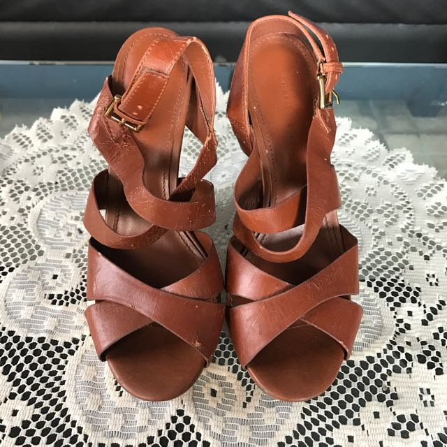 ‼️REPRICED‼️Charles & keith brown wedge