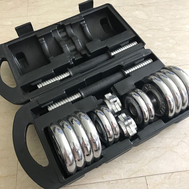 Chrome Dumbell Set (15kg)