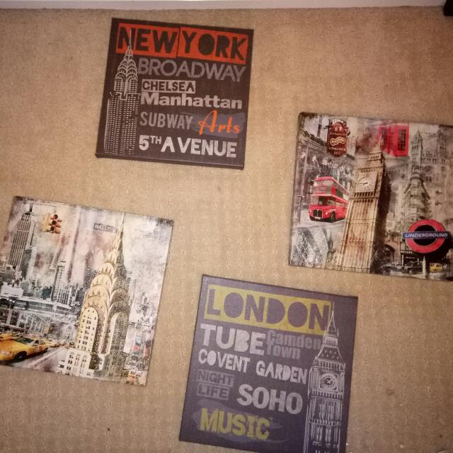 City canvases